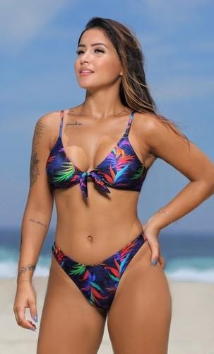 Conjunto Biquíni Top com Bojo Removível e Calcinha Asa Delta Cancun