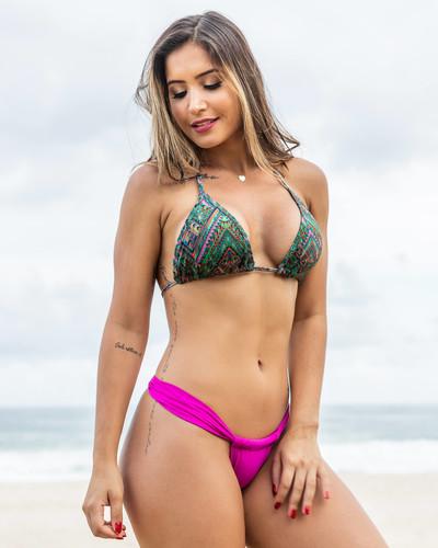 Biquíni Cortininha com Calcinha Sumô Pink