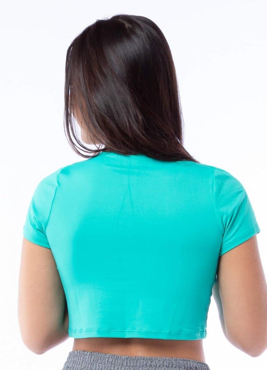 Blusa Cropped Poliamida Verde