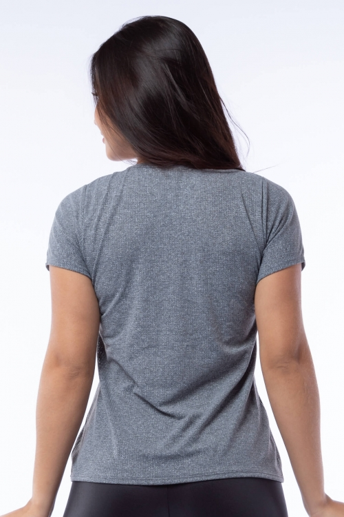 Blusa  Dry Fit Poliamida Mescla Relax