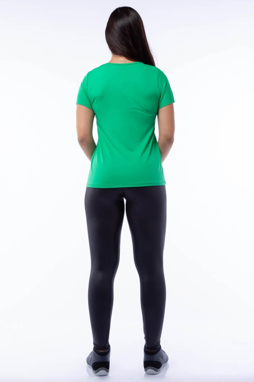 Blusa Poliamida Verde com Silk