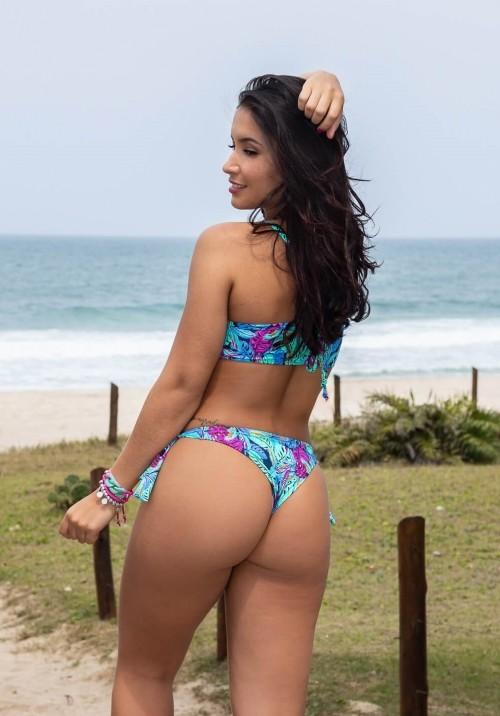 Biquíni Top Cropped com Calcinha de Amarrar Aruba