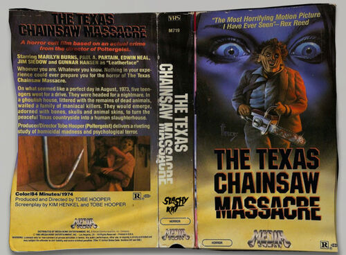 Bandeira Texas Chainsaw Massacre VHS