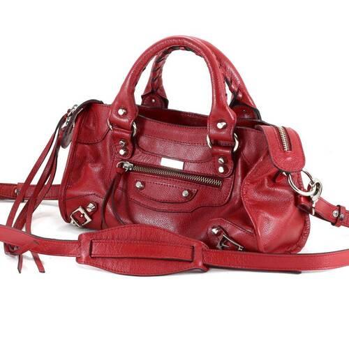 MINI BARCELONA Bolsa pequena couro legítimo vermelha