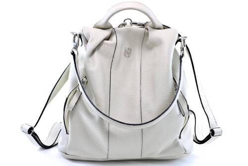 MOCHILA MILÃO Bolsa mochila branca / off white em couro legitimo