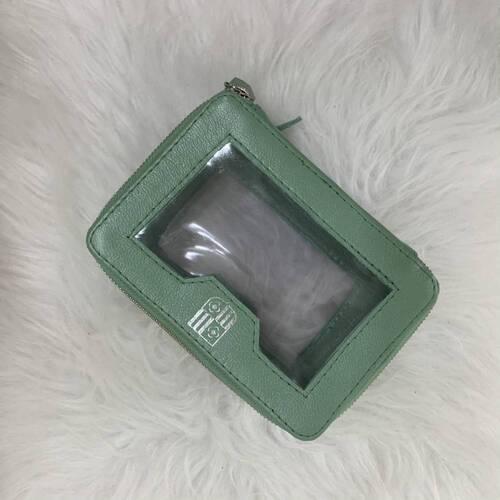 Necessaire dupla com visores transparentes verde menta