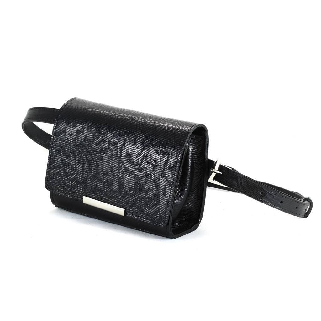 MONACO Bolsa pochete clutch com corrente preta