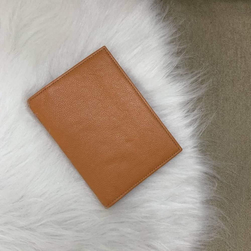 Porta-passaporte duplo laranja