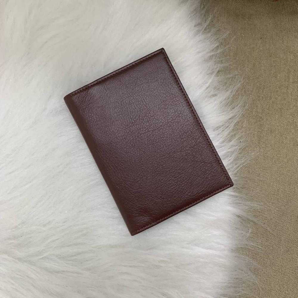 Porta-passaporte duplo vinho