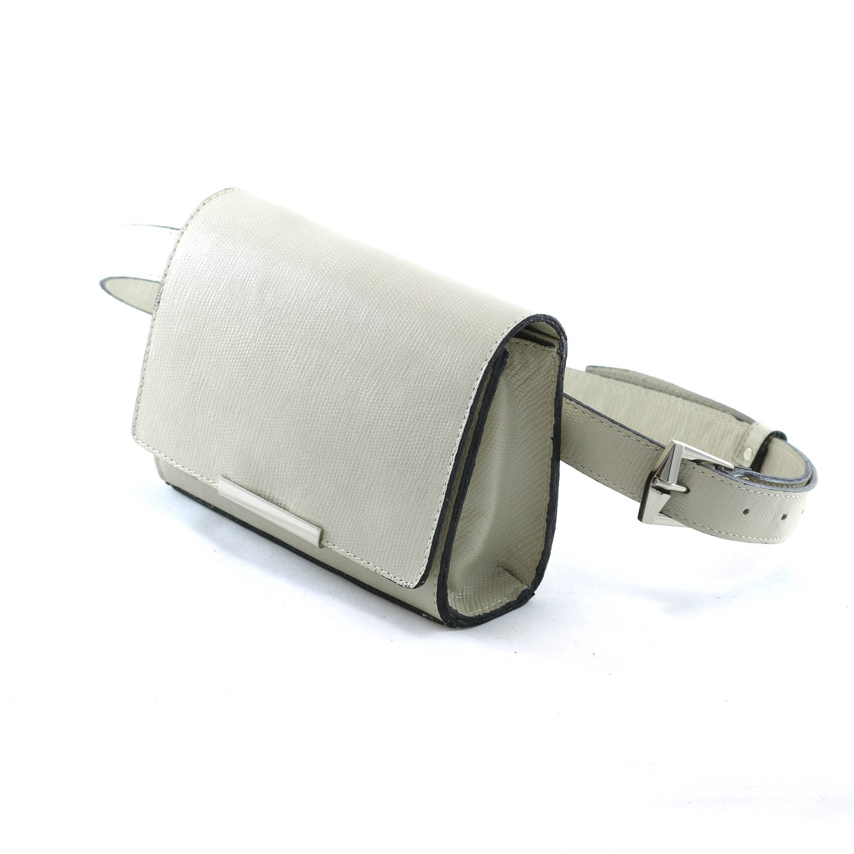 MONACO Bolsa pochete clutch com corrente off white