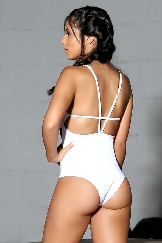 Body The Bad Girls Maiô Fitness - Bad Girls Branco