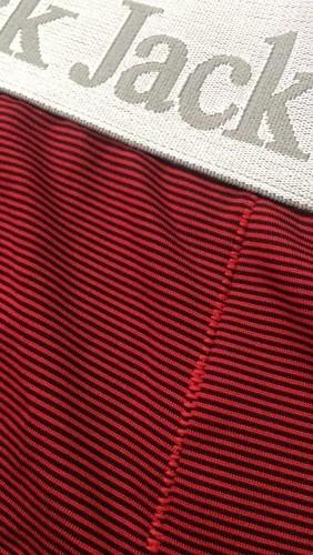 Cueca Boxer Black Jack - Risca de Giz Vermelha