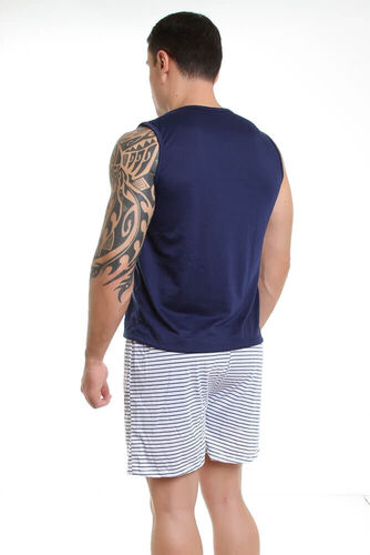Pijama de Malha Curto Camiseta e Short - Masculino Adulto