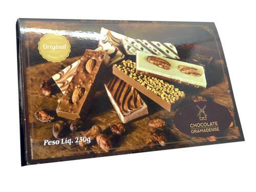 Caixa 8 Barras de Chocolate 230g