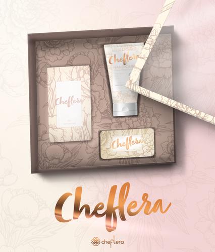 Kit Cheflera - Deo Colônia + Sabonete para mãos + Creme Hidratante Mãos e Unhas