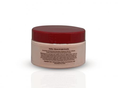 Máscara de Argila Vermelha - Tonificante e Hidratante