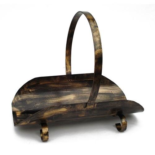 Porta Lenha Modelo Canoa - Pátina Ouro