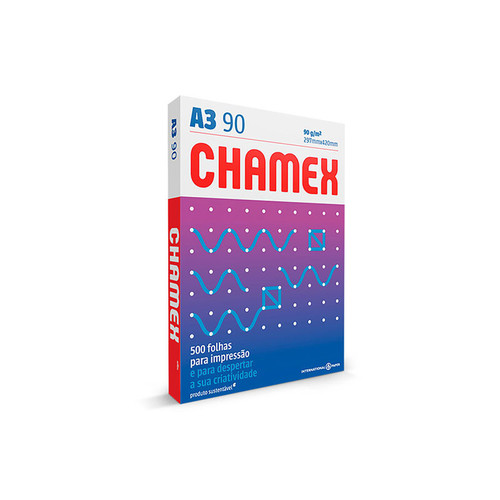 Papel Sulfite A3 90g Super Chamex Office com 500 Folhas