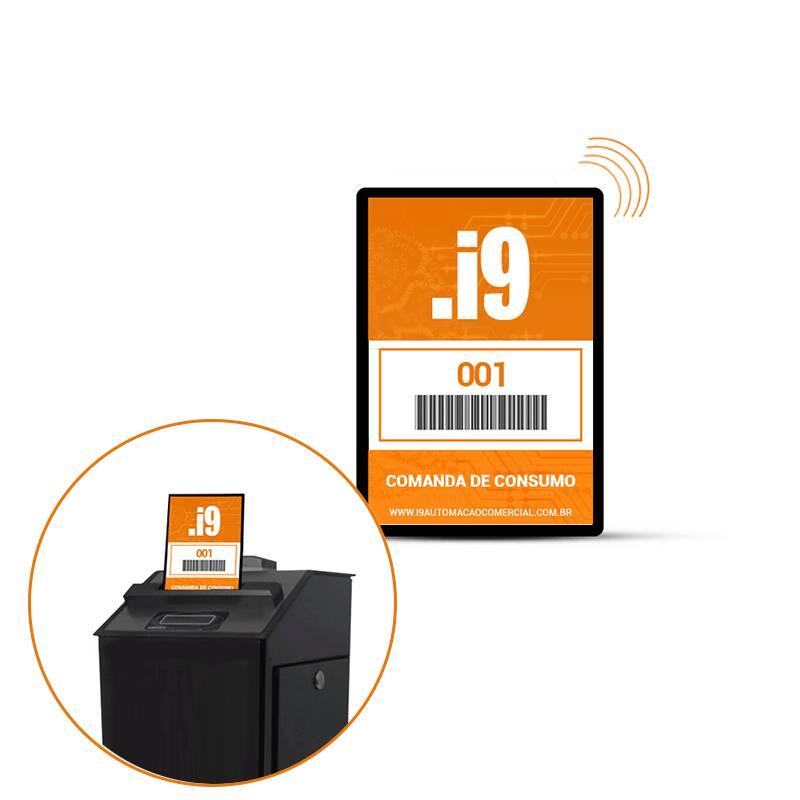 Comanda Eletrônica RFID - 9cm x 7cm - Personalizada - Pct 8 UN