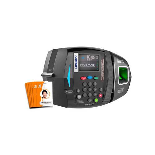 Relógio Ponto Eletrônico Henry Prisma c/ 10 - Crachás RFID