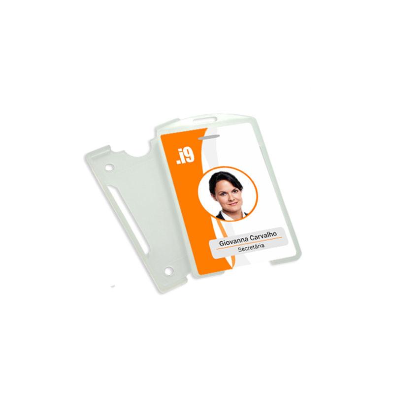 Porta Crachá PVC Vertical - Pct 100 Un
