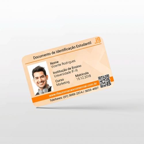 Carteirinha de Estudante em PVC Personalizada