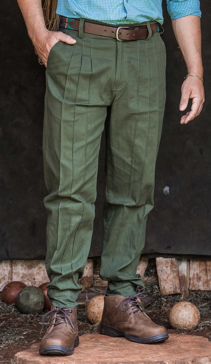 28004 - Bombacha Masculina Ginete Sureña - Tecido 98% algodão e 2% elastano.
