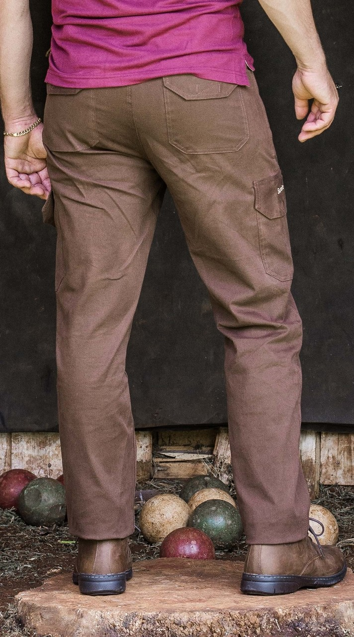 28003 - Calça Cargo Masculina Sureña - Tecido 98% algodão e 2% elastano.