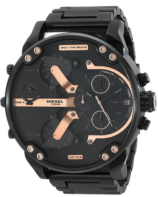 a0039607b0e Comprar Relógio Diesel 3 BAR - Mr. Daddy 2.0 Preto e Dourado ...
