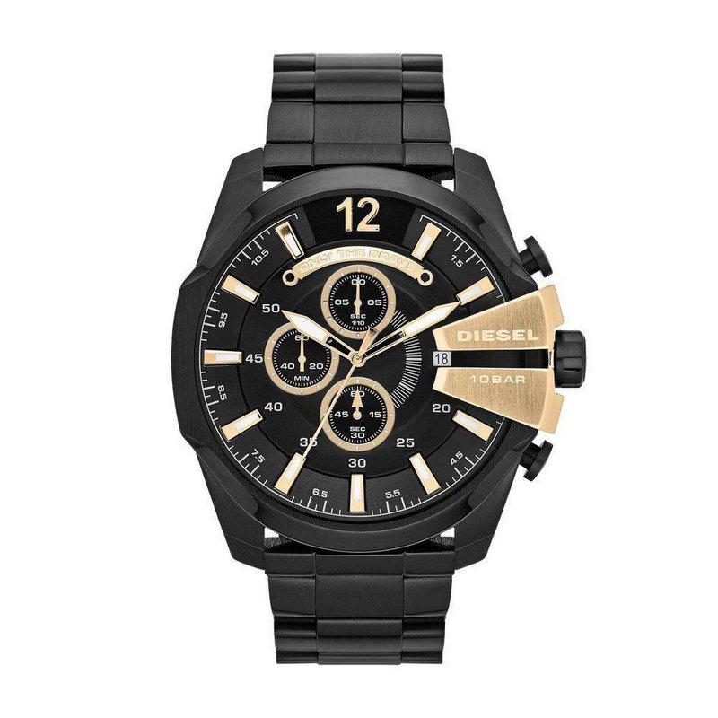 c9ed62bc708 Comprar Relógio Diesel 10 BAR - Preto com Dourado - Brasil Relógios ...