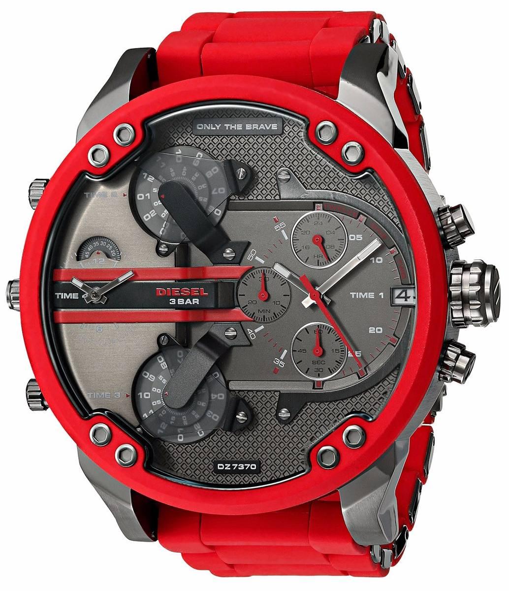 Relógio Diesel 3 BAR - Vermelho