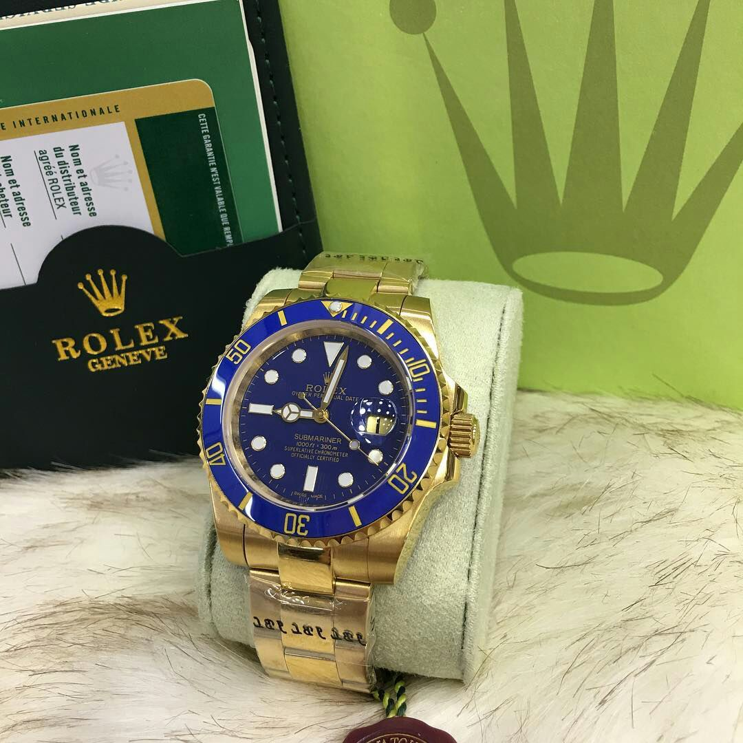 1111dc778fa Comprar Relógio Rolex Submariner Blue Gold - Brasil Relógios Importados