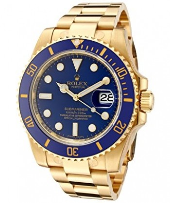 Relógio Rolex Submariner Blue Gold