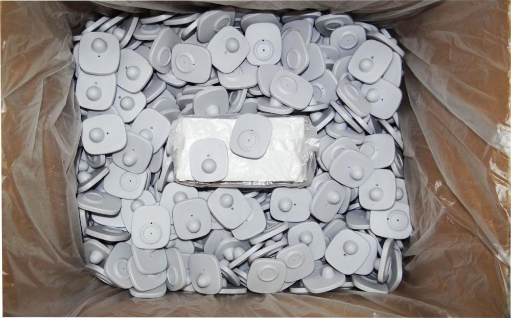 Etiqueta Rígida Mini Tag Antifurto Branca RF 8,2MHz - 1000 un