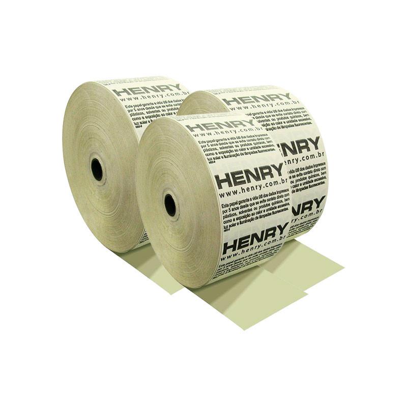 Bobina Térmica Henry para Relógio de Ponto 57mm x 300m caixa com 6 unidades