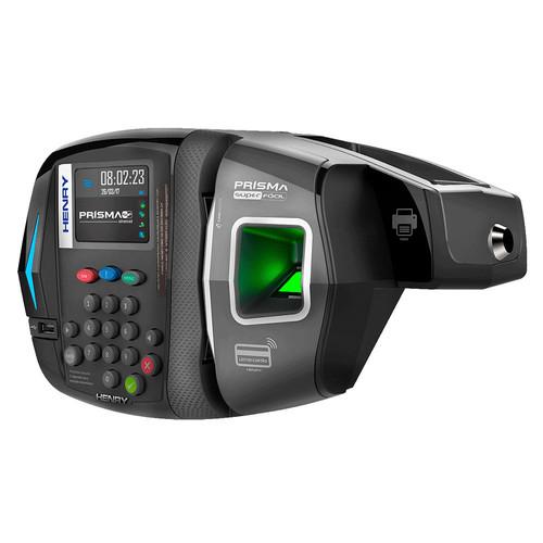 Relógio de Ponto Eletrônico Henry Prisma SF Advanced R2 com Bateria + Bobina + Crachá