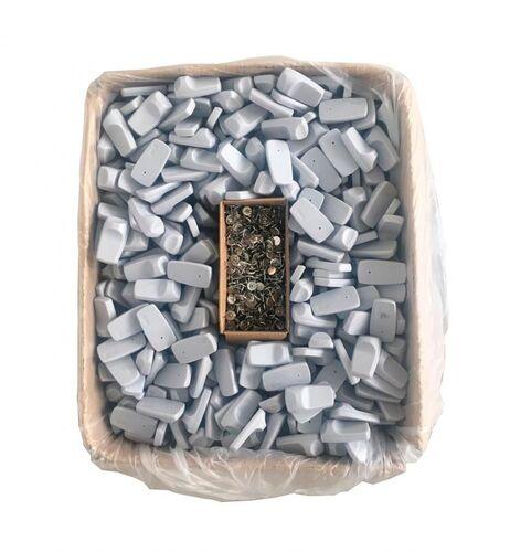 Etiqueta Rígida Mini Tag Antifurto Cinza RF 8,2MHz - 1000 un