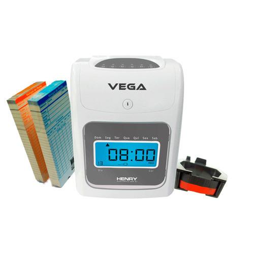 Relógio de Ponto Cartográfico Henry Vega com Bateria