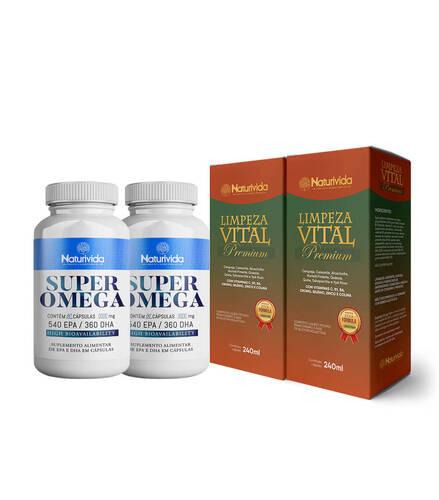 Kit 2 Limpeza Vital Premium  e Kit 2 Super Omega