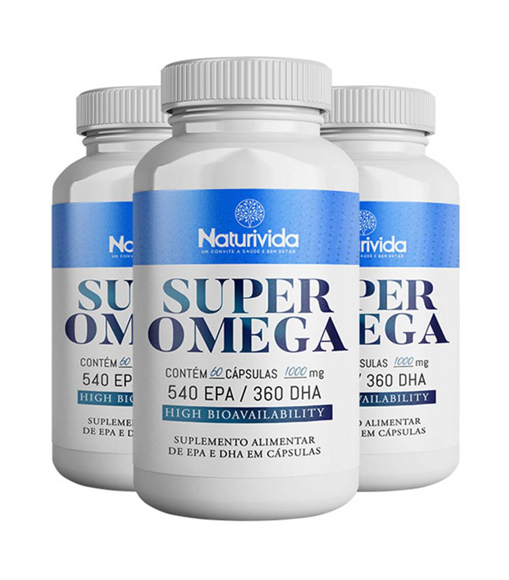 Kit 3 Super Omega - 1000 mg - 540 EPA / 360 DHA