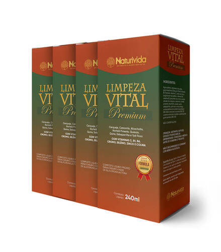 Kit 4 Limpeza Vital Premium - 240ml