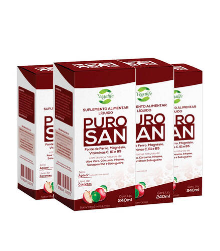 Kit 4 Puro San - 240ml - VegaLife