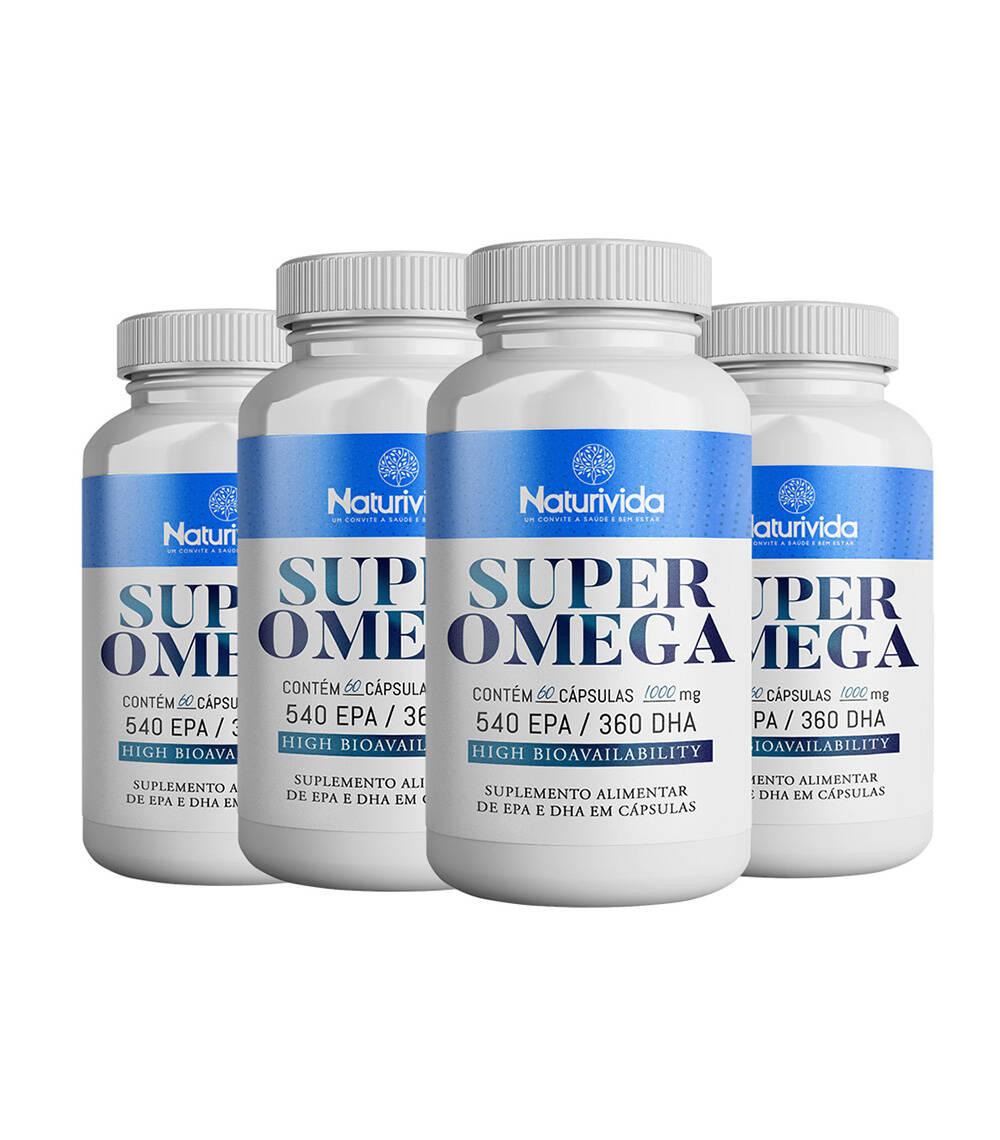 Kit 4 Super Omega - 1000 mg - 540 EPA / 360 DHA