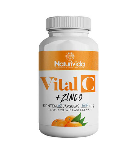 Vital C - Vitamina C + Zinco | 60 caps 500mg