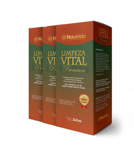 Kit 3 Limpeza Vital Premium - 240ml