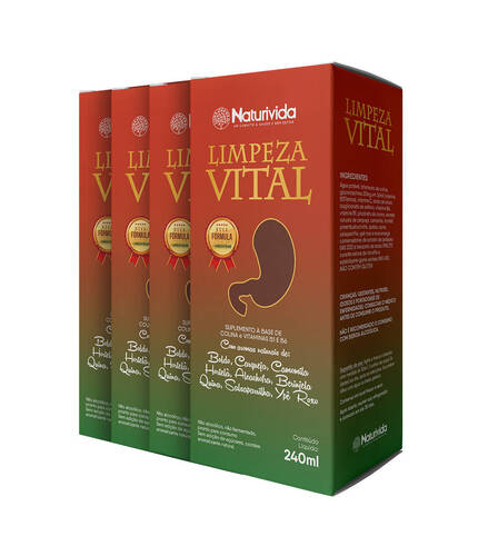 kit 4 Limpeza Vital - 240ml
