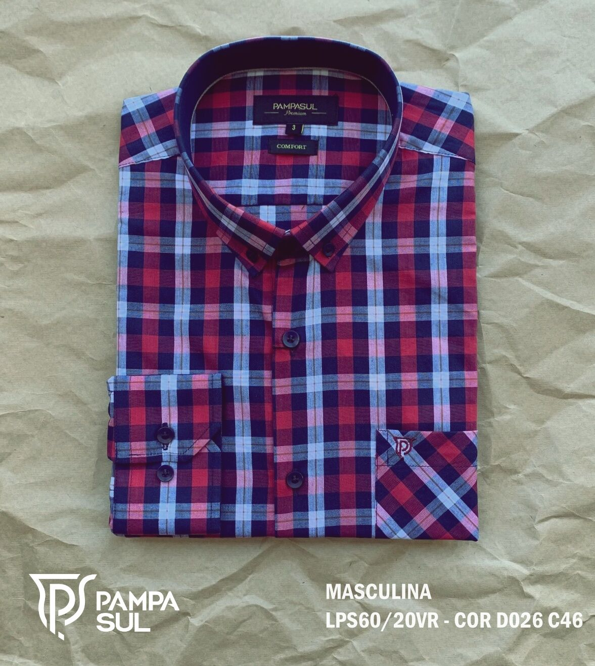 Camisa Pampa Sul Masculina Slim Confort LPS 60/20