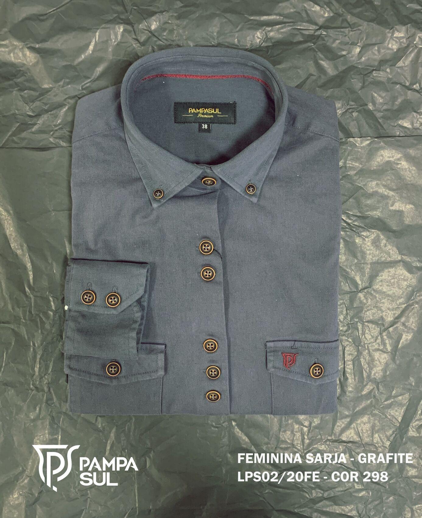 Camisa Pampa Sul Feminina em Sarja