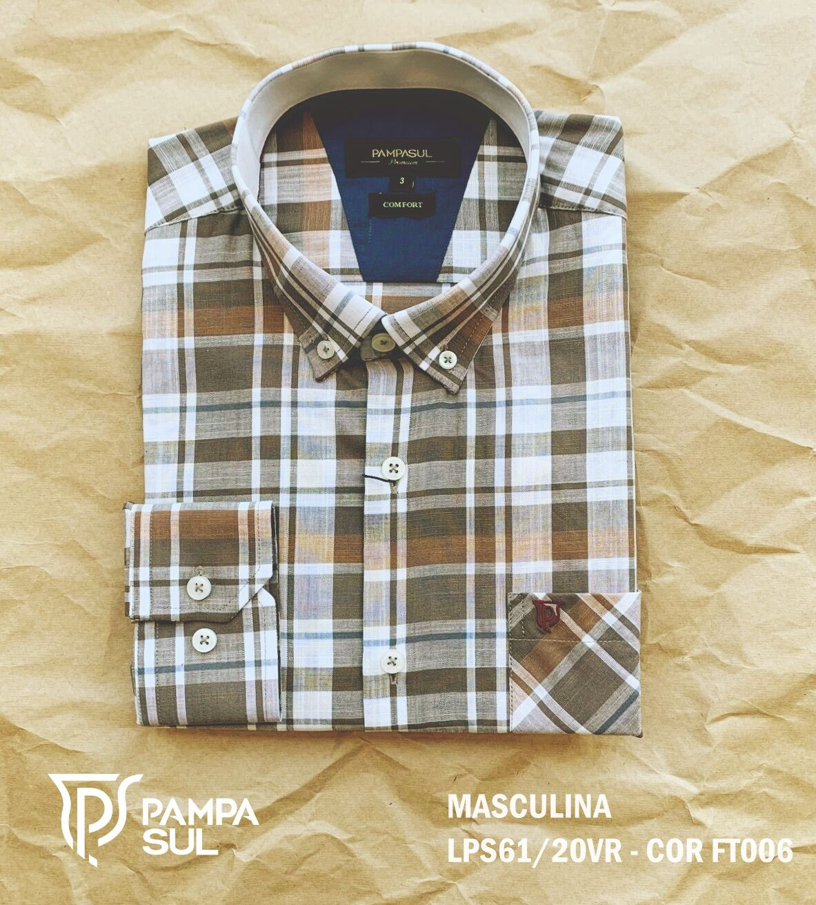 Camisa Pampa Sul Masculina Slim Confort LPS 61/20