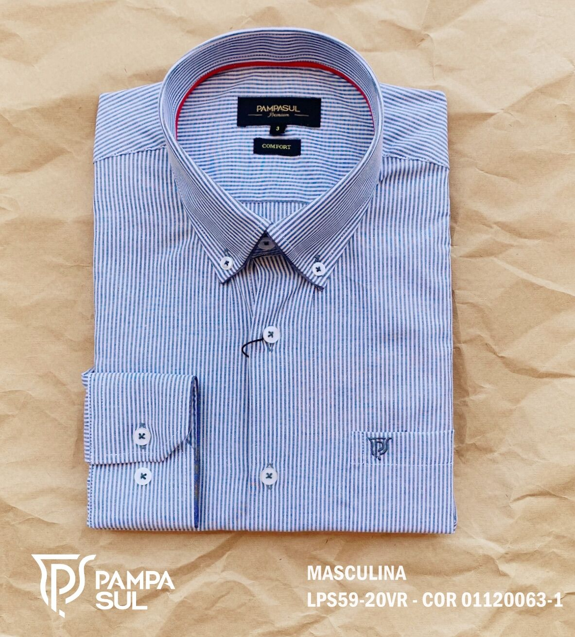 Camisa Pampa Sul Masculina Slim Confort LPS 59/20